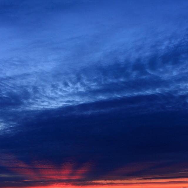 """Midnight sunset"" stock image"