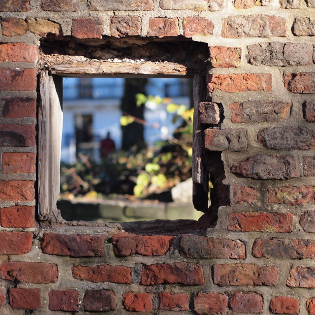 """""""The Hole in the Wall"""" stock image"""
