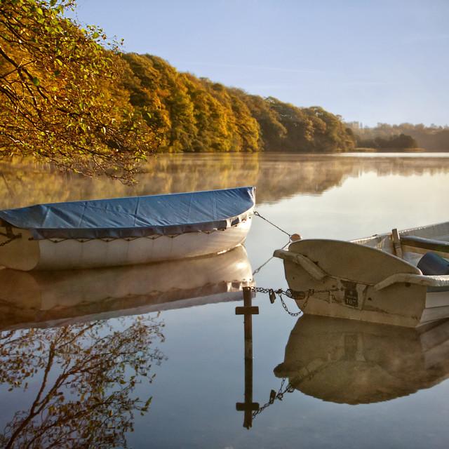"""""""Boats at Hald So"""" stock image"""