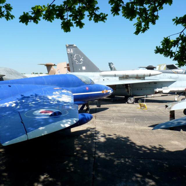 """""""Aircraft garden"""" stock image"""