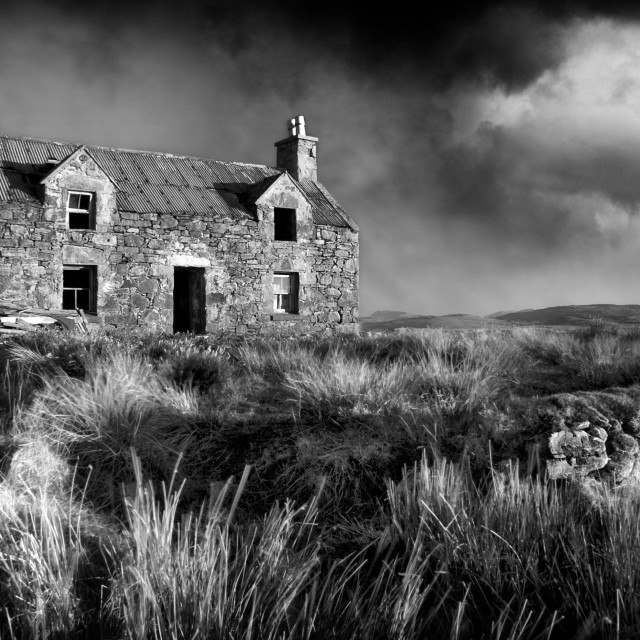 """Abandoned croft"" stock image"
