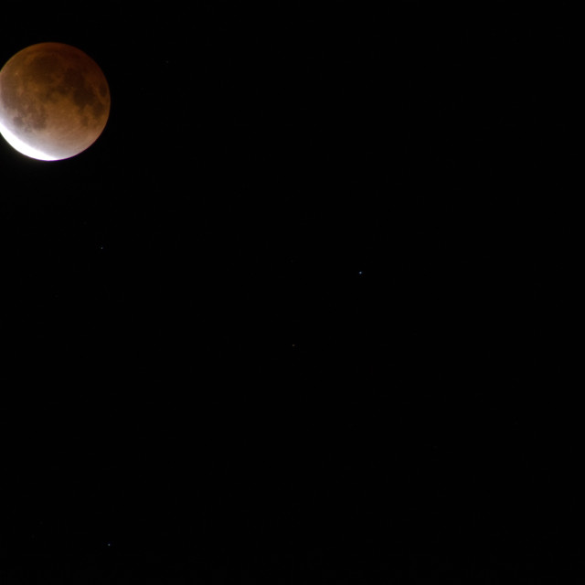 """Moon during lunar eclipse"" stock image"