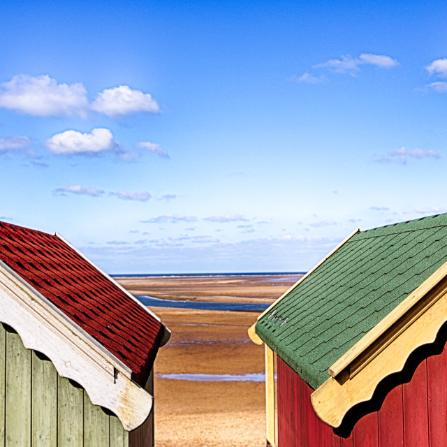 """A Beach huts view"" stock image"