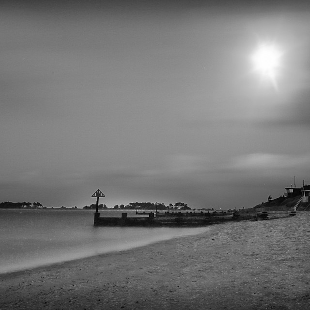 """Calm Shores in Black and white"" stock image"