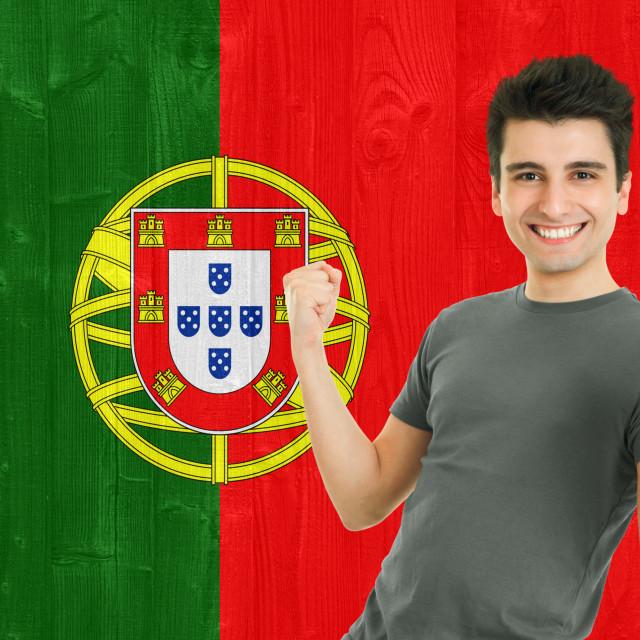 """Portuguese Sports Fan"" stock image"