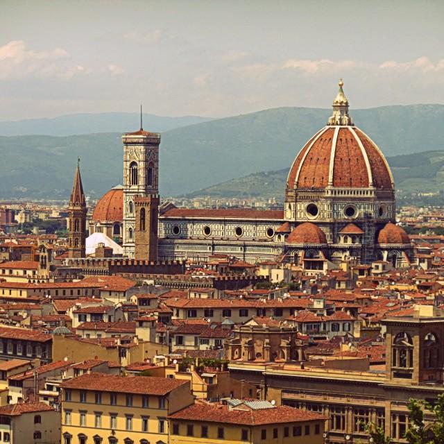 """Florence skyline"" stock image"