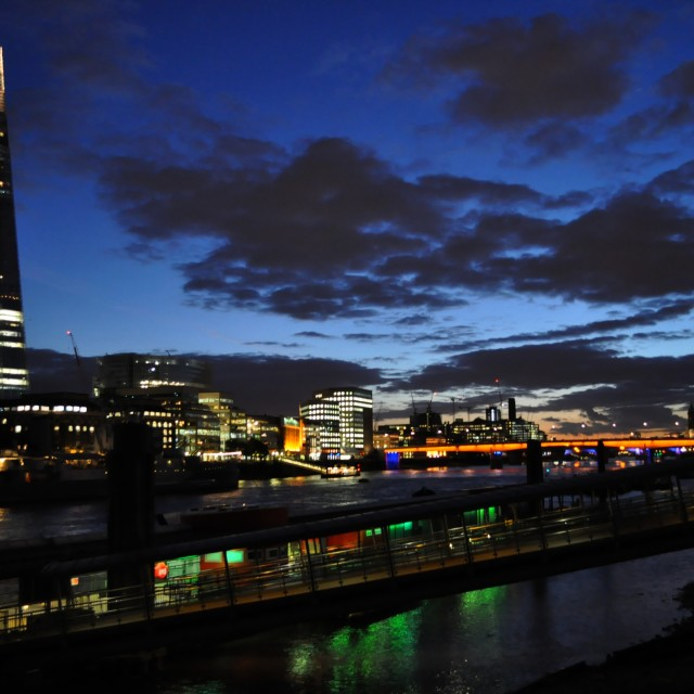 """""""Dusk in Tower Hill"""" stock image"""