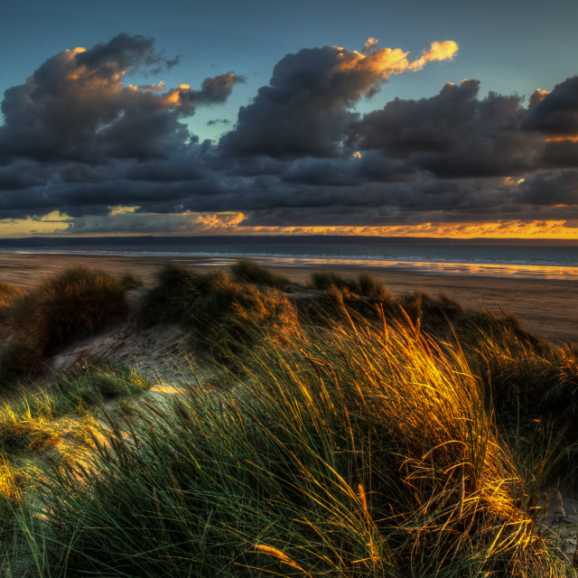 """Saunton Sands North Devon"" stock image"