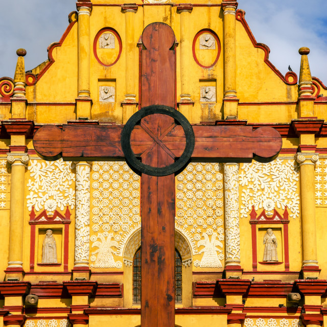 """""""Cathedral and Cross"""" stock image"""