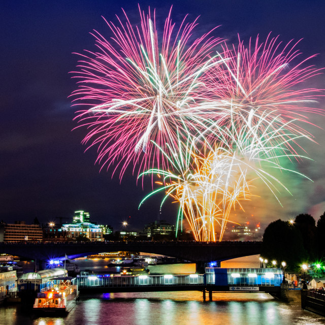 """Fireworks in London"" stock image"
