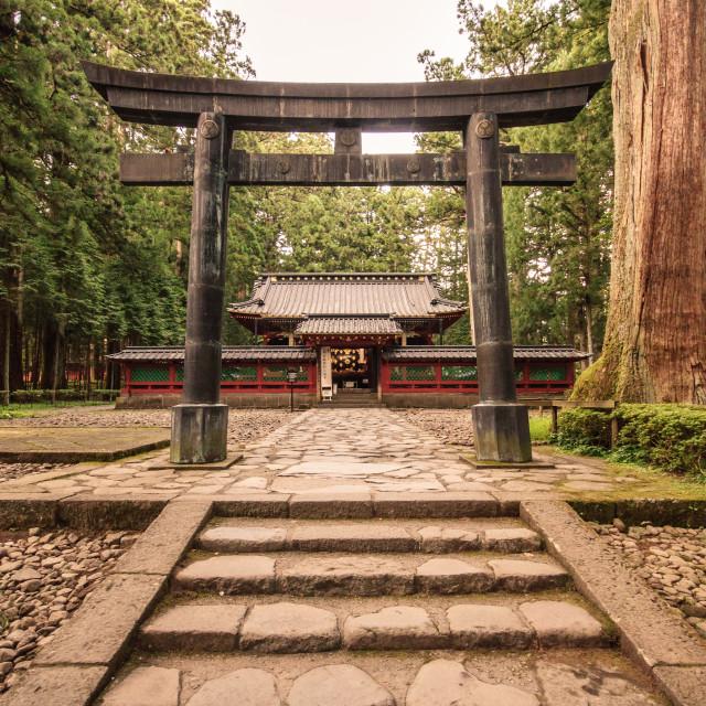 """Shrine gate"" stock image"