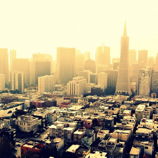 """""""San Fransisco Glow"""" stock image"""