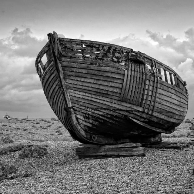 """""""Abandoned, Dungeness, Kent"""" stock image"""