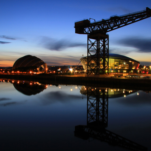 """Glasgow Night"" stock image"