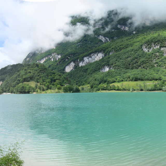 """Lake Tenno, Italy"" stock image"