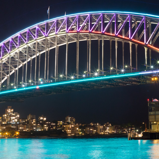 """Vivid Light Festival Sydney Harbour Bridge"" stock image"