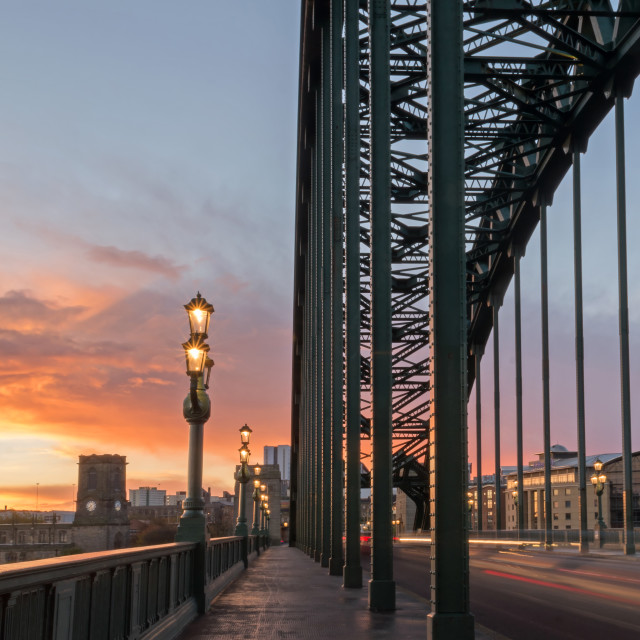 """""""Tyne Bridge at Sunrise"""" stock image"""
