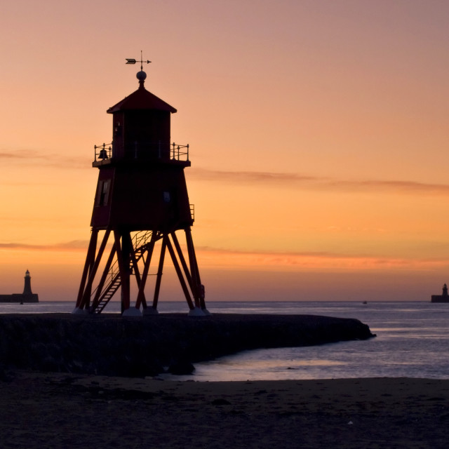 """Herd Groyne at South Shields"" stock image"