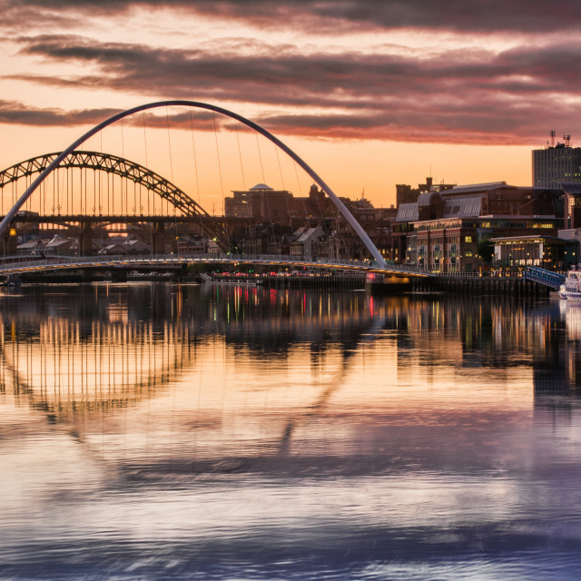 """The River Tyne and its Bridges"" stock image"