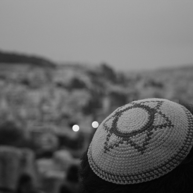 """Yarmulke in Jerusalem"" stock image"