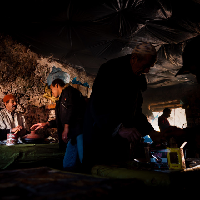 """Cafe in Atlas Mountains, Morocco"" stock image"