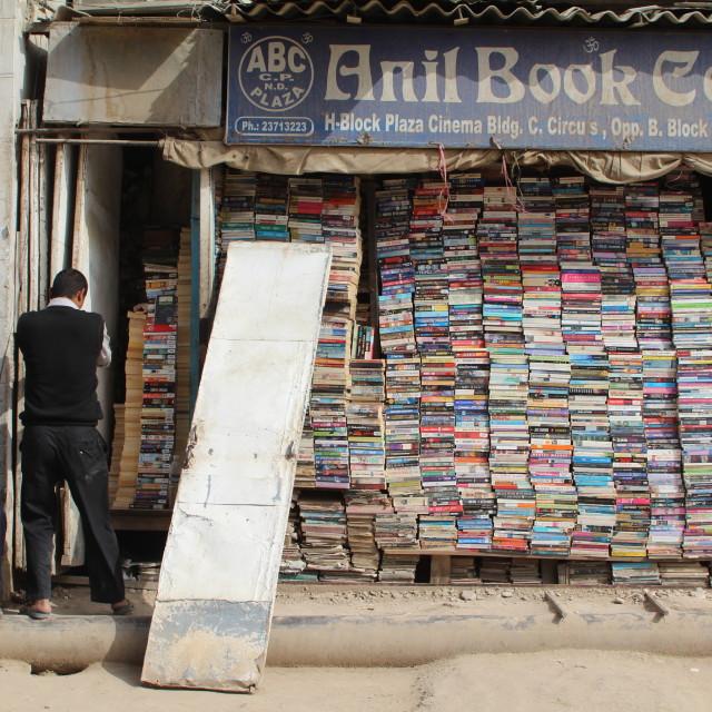 """""""Delhi Bookseller"""" stock image"""