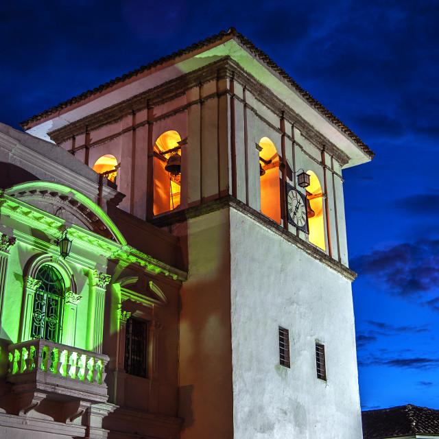 """""""Popayan Clock Tower"""" stock image"""