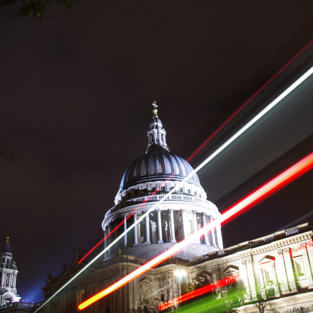 """St Paul's by Night"" stock image"