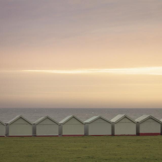 """Brighton Beach Huts"" stock image"