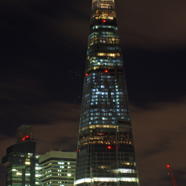 """""""The Shard by Night"""" stock image"""