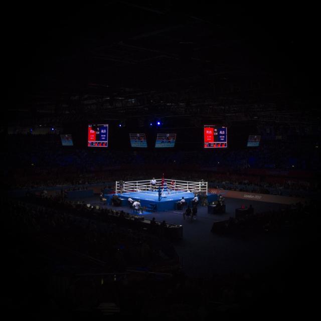 """Boxing Ring"" stock image"