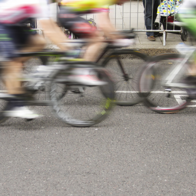 """Fast Cyclists"" stock image"