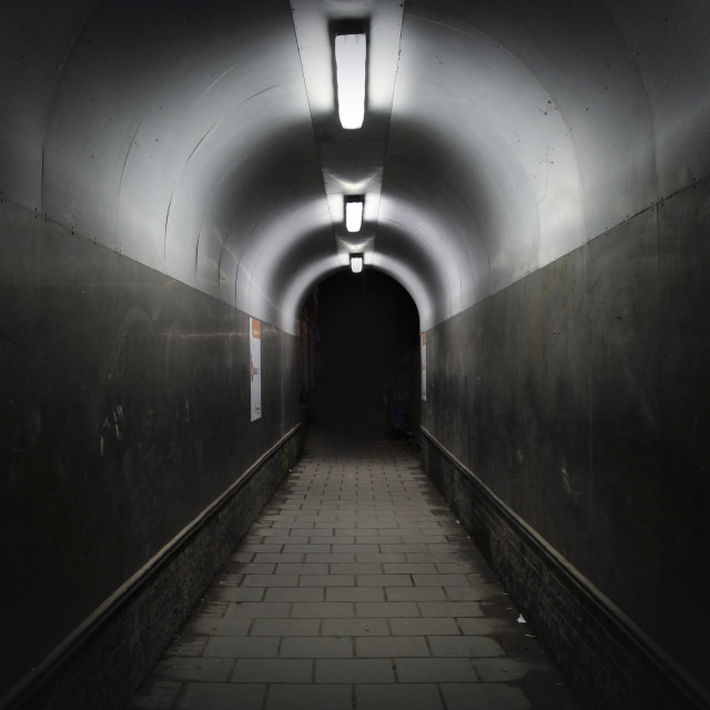 """Tunnel at Night"" stock image"