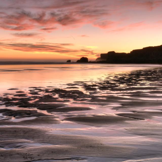 """""""South Shields Sunrise"""" stock image"""