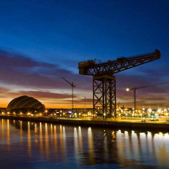 """""""Glasgow Cranes"""" stock image"""