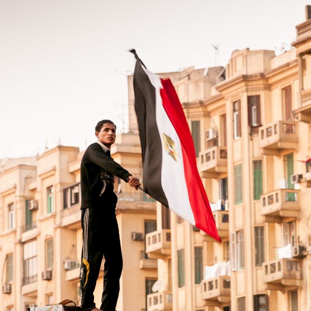 """Protester Tahrir Square Cario"" stock image"