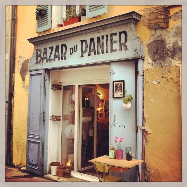 """Le Panier, Marseille"" stock image"
