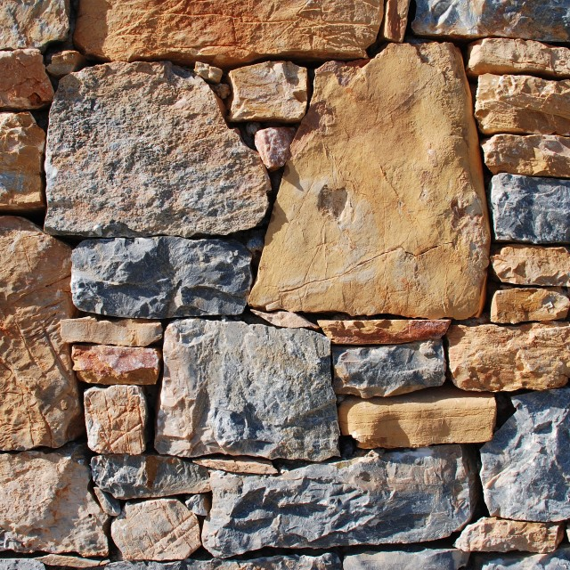 """Stone wall, Greece"" stock image"