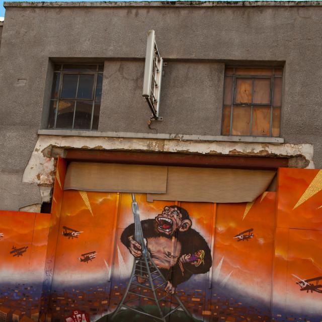 """Graffiti at the Palace"" stock image"