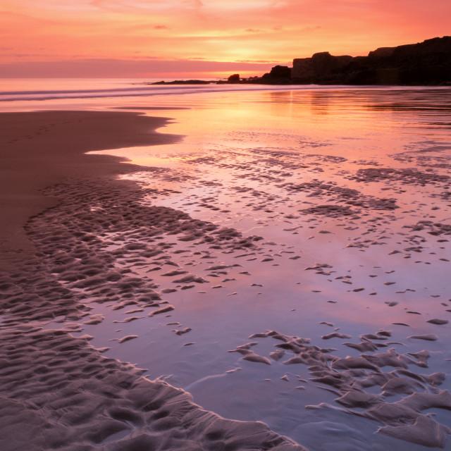 """South Shields Beach"" stock image"