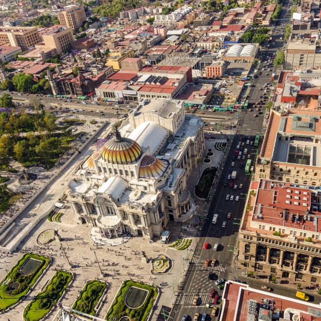 """Mexico City Aerial View"" stock image"