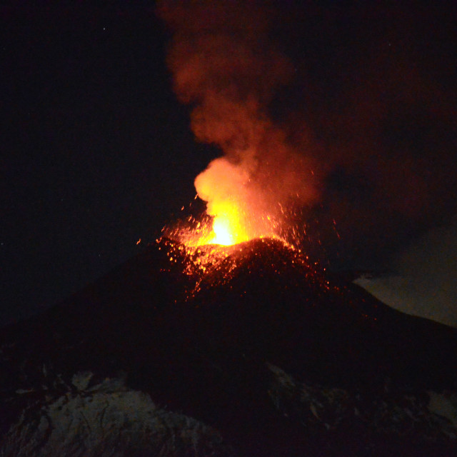 """Mount Etna Eruption"" stock image"