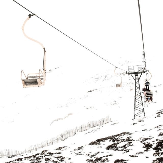 """Skiing"" stock image"