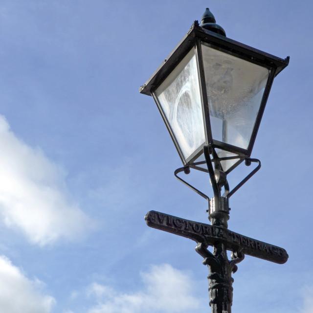 """""""Victora Lane Lamp"""" stock image"""