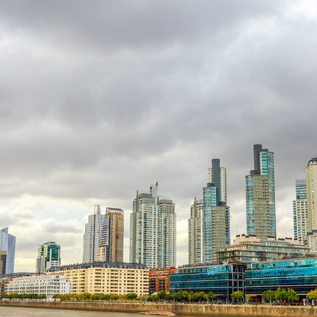 """Buenos Aires Skyline"" stock image"