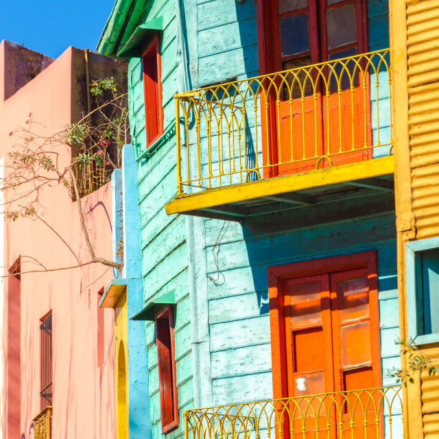 """Colorful Balconies"" stock image"