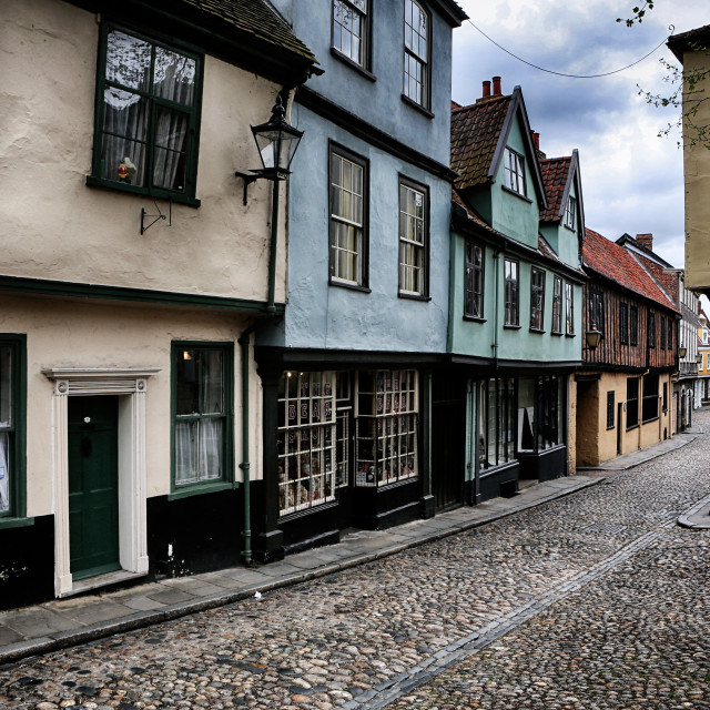 """Elm Hill Norwich"" stock image"