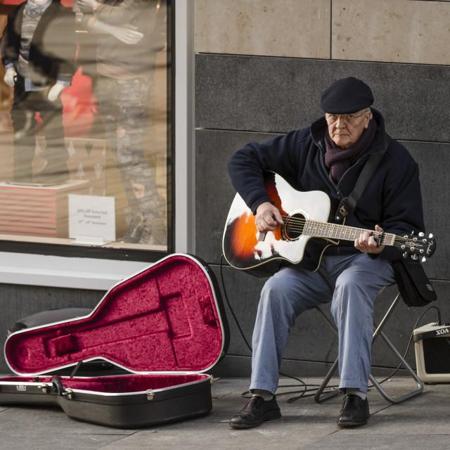 """""""Grumpy guitar man"""" stock image"""