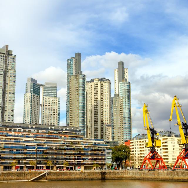 """Puerto Madero Skyscrapers"" stock image"
