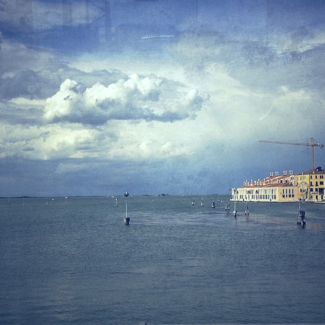 """""""Coming into Venice"""" stock image"""